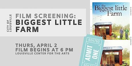 Film Screening: Biggest Little Farm tickets