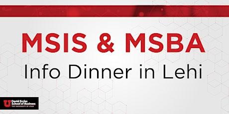 MSIS & MSBA Information Dinner   Lehi tickets