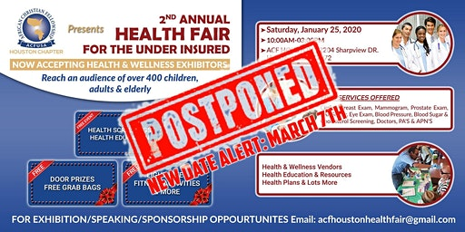 2nd Annual Health Fair for the Under Insured