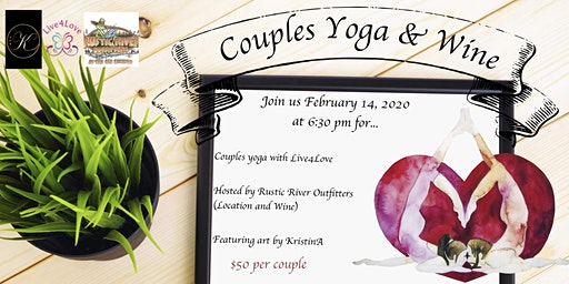 Couples Yoga, Wine & Art