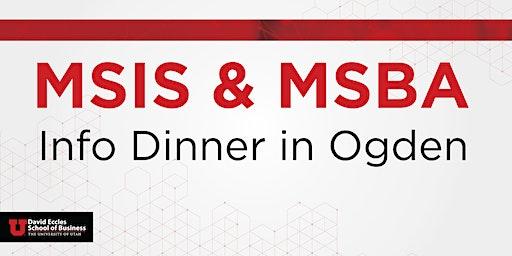 MSIS & MSBA Information Dinner | Ogden