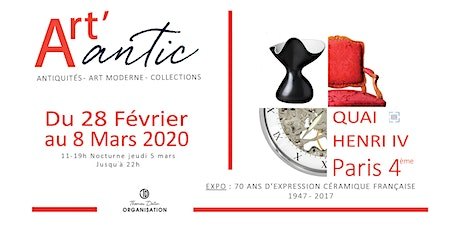 Salon ART'ANTIC - Antiquités, Art Moderne, Collections billets