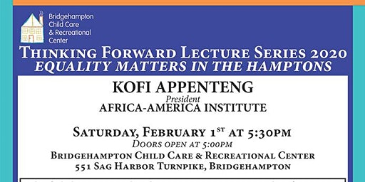 Thinking Forward Lecture Series Presents Kofi Appenteng