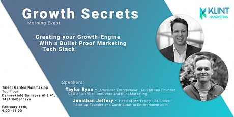 Growth Secrets: Creating a Growth-Engine  With Marketing Tech Stacks tickets