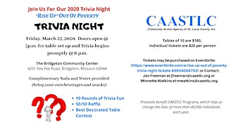 """""""Rise Up"""" Out of Poverty Trivia Night"""