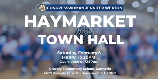 Rep. Wexton Hosts Haymarket Town Hall
