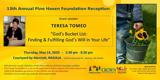 "Pine Haven Reception: ""God's Bucket List"" with Teresa Tomeo"