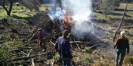 Pile burning for home safety tickets