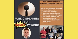 Public speaking for impact at work