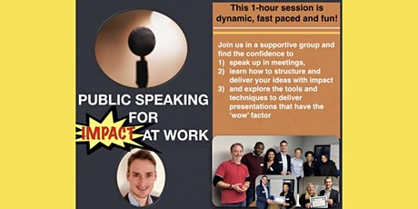 Public speaking for impact at work tickets
