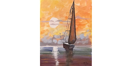 """3/19 - Corks and Canvas Event @ Kelly's Bar & Grill, NEWPORT """"Sunset Sail"""""""