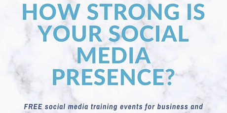 Social Media Discovery Workshop - How to Create a strong Online Presence tickets
