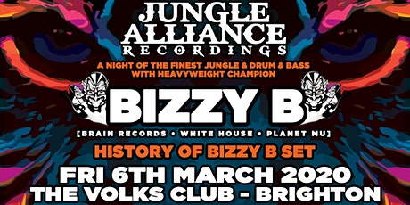Jungle Alliance Recordings Presents Bizzy B - Friday 6th March @ The Volks tickets