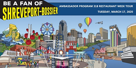 """Be a Fan of Shreveport-Bossier"" Ambassador Program - 318 Restaurant Week Food Tour tickets"