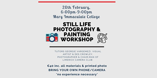 Still life photography & painting workshop