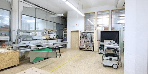 Einweisung in die Holzwerkstatt für Schreiner, Zimmerer und Mitglieder