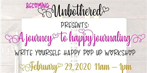 Write Yourself Happy Pop Up Workshop