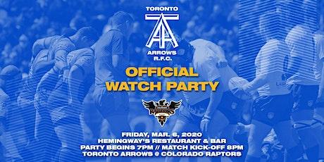 Toronto Arrows | Game 5 Official Watch Party vs Colorado Raptors tickets