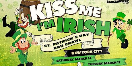 Kiss Me, I'm Irish: NYC St. Patrick's Day Bar Crawl (2 Days) tickets