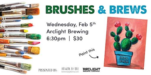 Brushes & Brews - Free Hugs