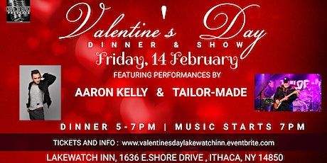 Valentine's Day Dinner & Show with Aaron Kelly and Tailor-Made tickets