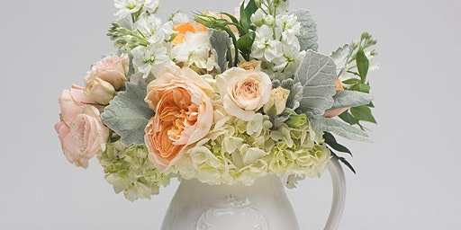 Sips and Stems-Farmhouse Hydrangea Pitcher