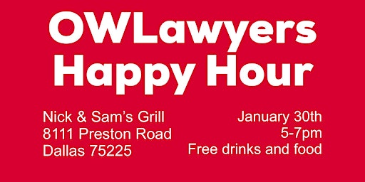 Industry Spheres Networking Organization & OWLawyers Free Happy Hour Social