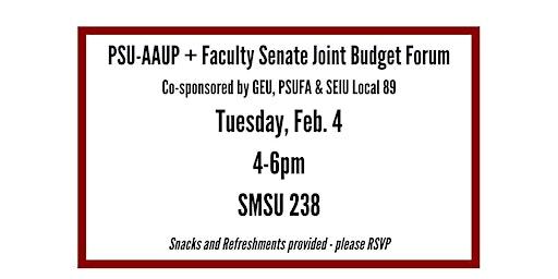 PSU-AAUP + Faculty Senate Budget Forum