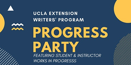 Writers' Program Progress Party Reading tickets