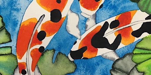 Splash Watercolor Class - Koi Trio