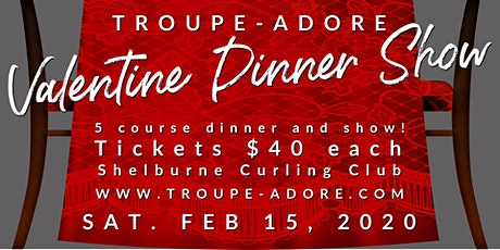 Troupe-Adore Valentine Dinner Show tickets