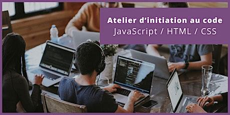 Brest - Atelier d'Initiation au Code - JavaScript / HTML / CSS tickets