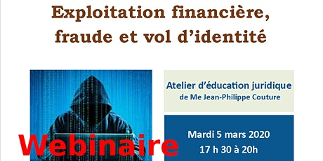 """Webinaire CANAF/AJEFA """"Exploitation financière,  fraude et vol d'identité"""" billets"""