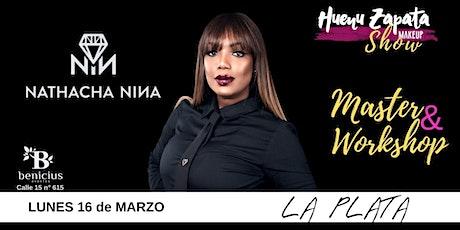 NATHACHA NINA - LA PLATA-  Huenu Zapata MakeUp Show entradas