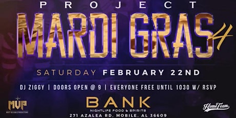 PROJECT MARDI GRAS 4 tickets