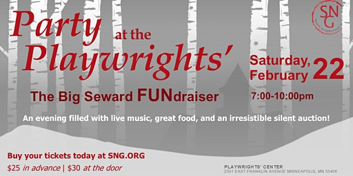 Party at the Playwrights' - Seward's Annual Fundraiser
