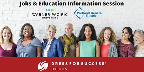 Jobs & Education Info Session with Warner Pacific University & PGE tickets