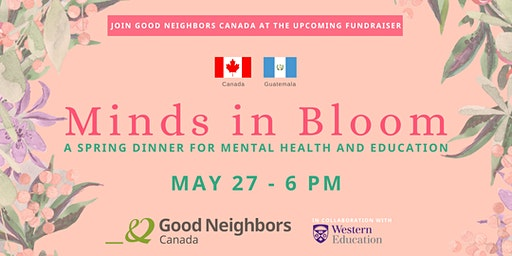 Minds in Bloom - a Spring dinner for mental health and education