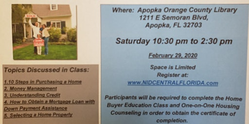 Free Home Buyer Downpayment  Assistance Class