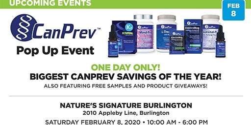 CanPrev Pop Up Event-- Biggest Savings Of The Year-- One Day Only