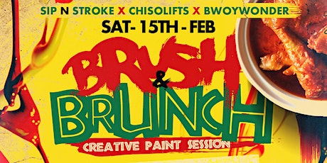 BRUSH & BRUNCH | Paint party | Food Included (8pm to 11pm) tickets