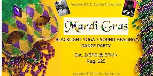 Mardi Gras Blacklight Yoga / Sound Healing Party