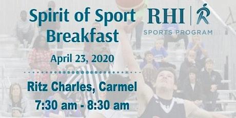 Spirit of Sport Breakfast tickets