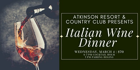 Italian Wine Dinner tickets
