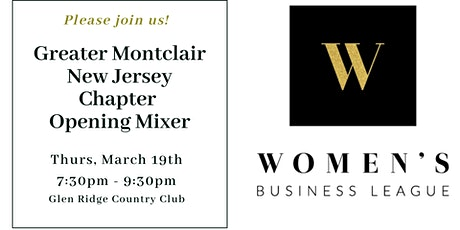 Greater Montclair New Jersey Chapter Opening Mixer tickets