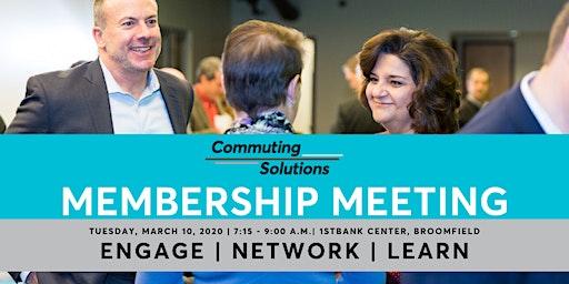 Commuting Solutions March Membership Meeting