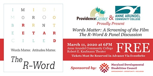 Words Matter: A Free Screening of the Film The R-Word & Panel Discussion
