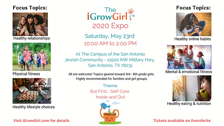 iGrow Girl 2020 Expo (Fun Event For 3rd-8th Grade Girls + Their Families) image