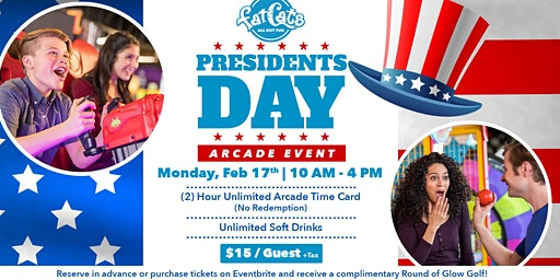 Presidents Day Arcade Event!