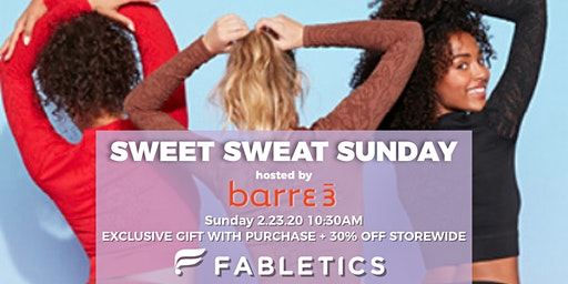 Sweet  Sweat Sunday hosted by Barre3